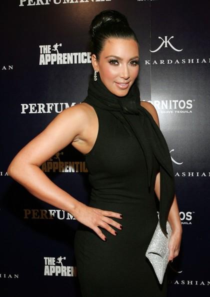 Kim Kardashian durante la sua apparizione al 'The Apprentice' a New York