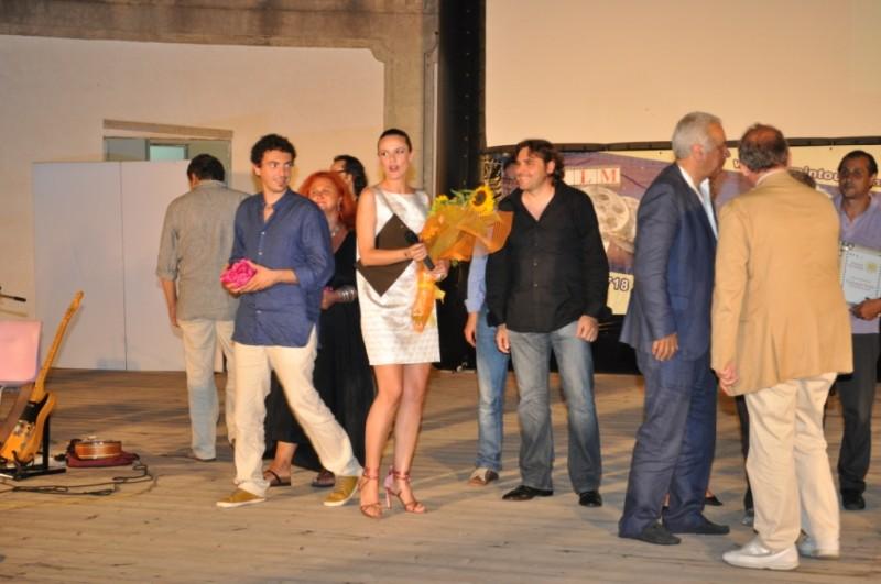 Massimo Fersini (al centro) regista del film Totem Blue, al Premio Barocco di Gallipoli