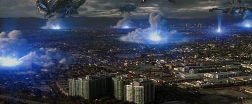 Uno scenario del film Skyline