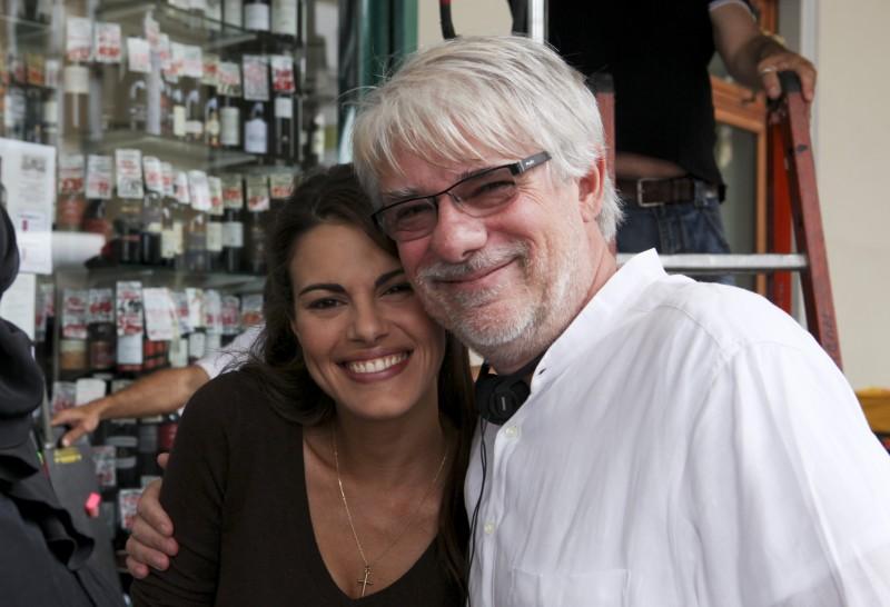 Bianca Guaccero e Ricky Tognazzi sul set della fiction Mia madre