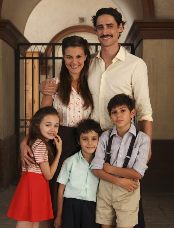 La famiglia protagonista della fiction Mia madre