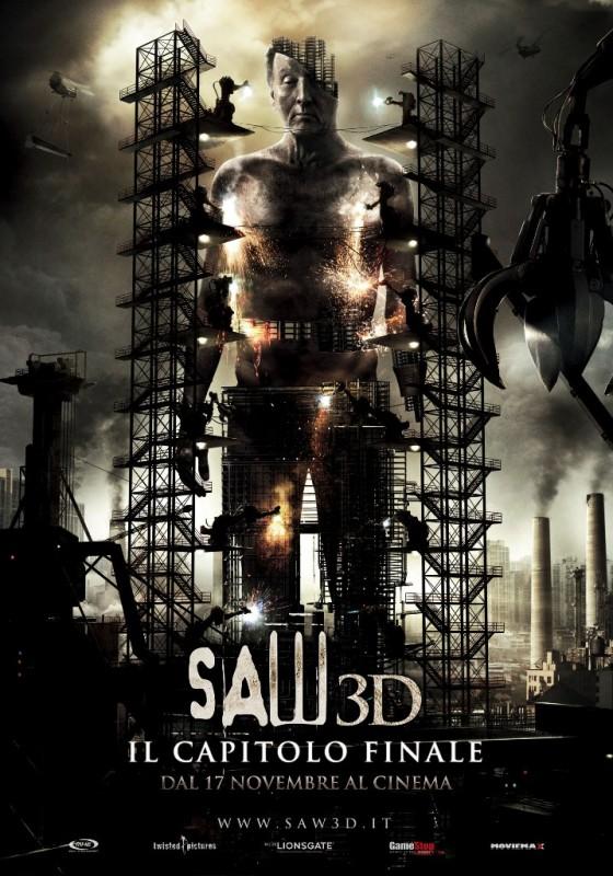 La locandina italiana definitiva di Saw 3D