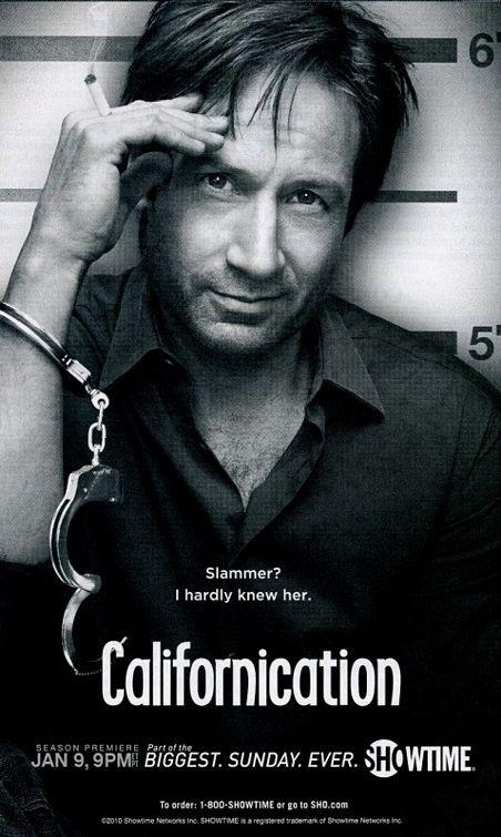 Un poster della stagione 4 di Californication