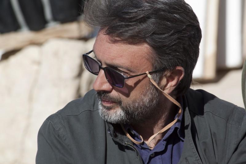 Il regista Guido Chiesa sul set del film Io sono con te