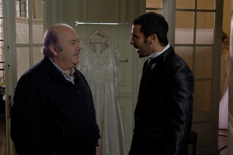 Lino Banfi e Angelo Campolo in una scena di Tutti i padri di Maria