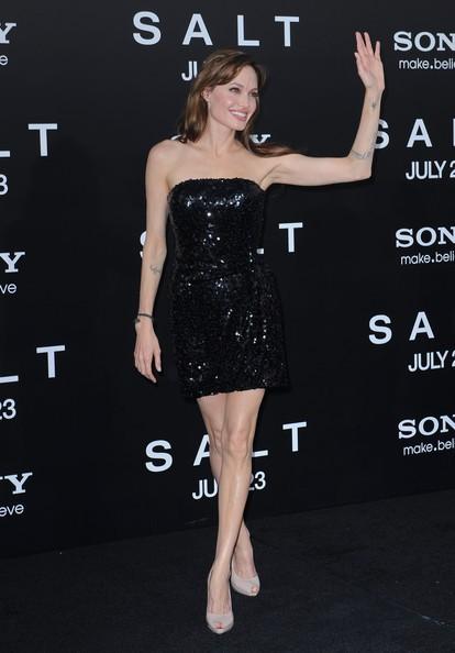 Angelina Jolie durante la promozione di Salt