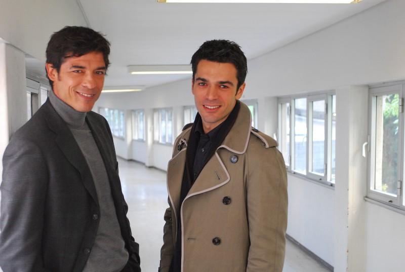 Luca Argentero e Alessandro Gassman, protagonisti del film La donna della mia vita