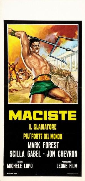 La locandina di Maciste, il gladiatore più forte del mondo