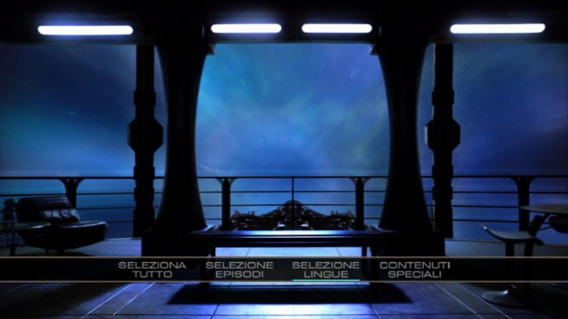 Il menù principale del disco 1 di Stargate Universe, stagione 1