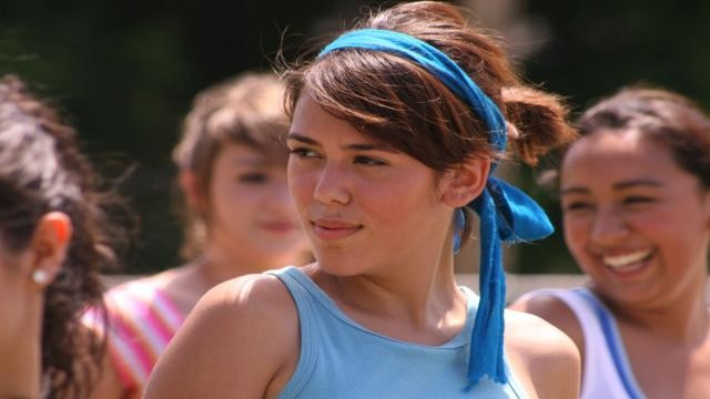 Una giovane cocainomane nel film Inside America.