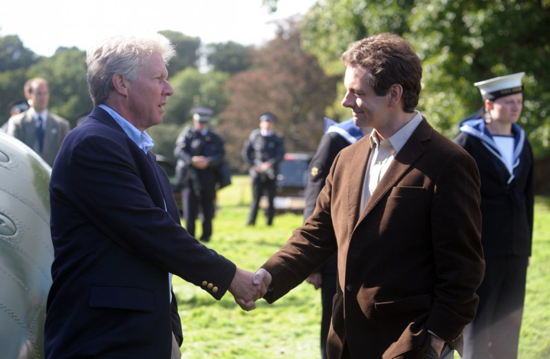 Dennis Quaid e Michael Sheen in una immagine del film I due presidenti (The Special Relationship)