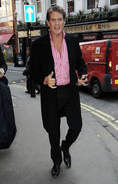 David Hasselhoff a London West End (Theatre District)