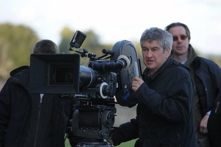 Il regista Richard Loncraine sul set del film I due presidenti