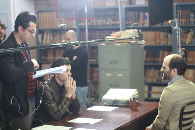 Nicolangelo Gelormini sul set di \'Reset\'.
