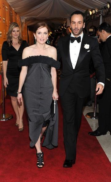 Julianne Moore e Tom Ford, rispettivamente interprete e autore di A Single Man
