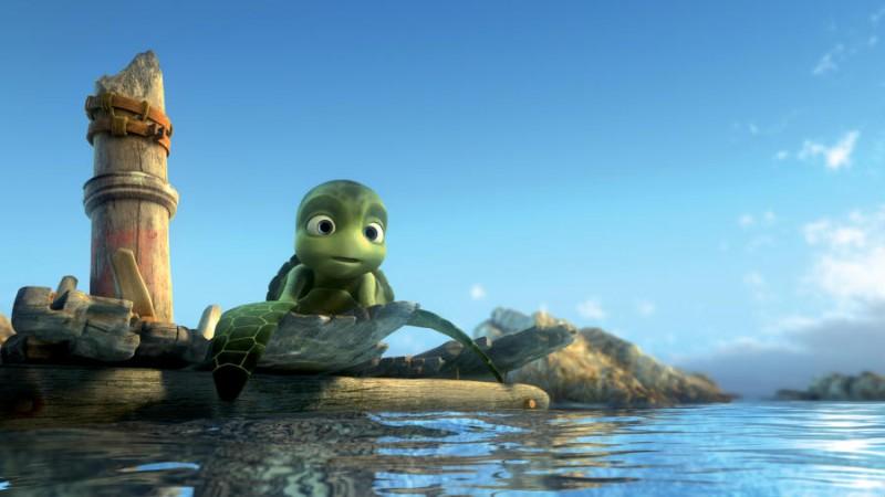 Un'immagine del film d'animazione Le avventure di Sammy - Il passaggio segreto