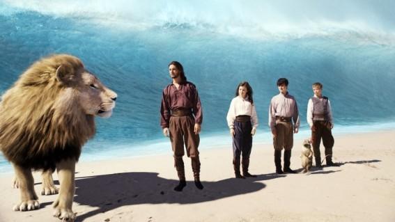 Una sequenza del fantasy Le cronache di Narnia: Il viaggio del veliero