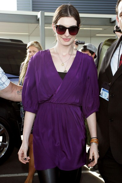 Anne Hathaway arriva a Sydney per promuovere il suo nuovo film 'Love and Other Drugs'