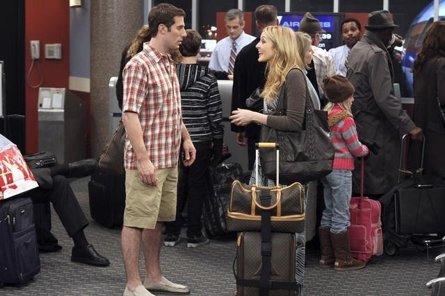 Josh Cooke e Jennifer Finnigan in Better With You nell'episodio Better With Christmas Crap