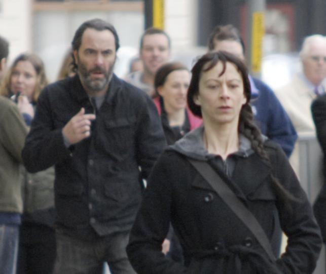 James Nesbitt e Kate Dickie in un'immagine dell'horror Outcast