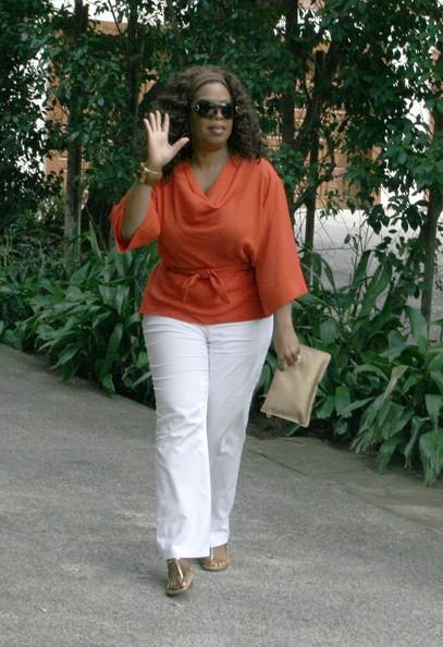 Oprah Winfrey arriva ad un party