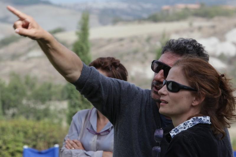 Sergio Castellitto e Margaret Mazzantini sul set del film La bellezza del somaro