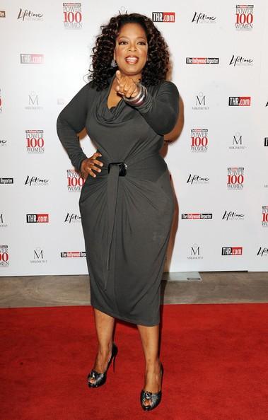 Una grintosa Oprah Winfrey