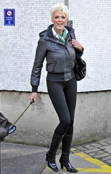 Brigitte Nielsen fuori dagli studi di Londra