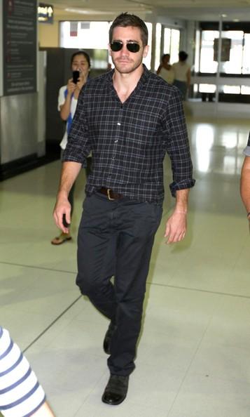 Jake Gyllenhaal al Sydney International Airport, prima di partire per Australia