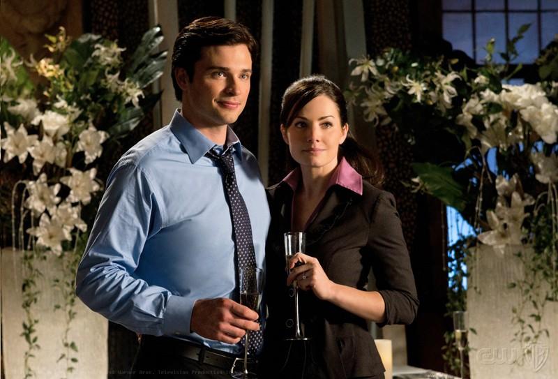 Tom Welling e Erica Durance in una scena dell'episodio Icarus di Smallville