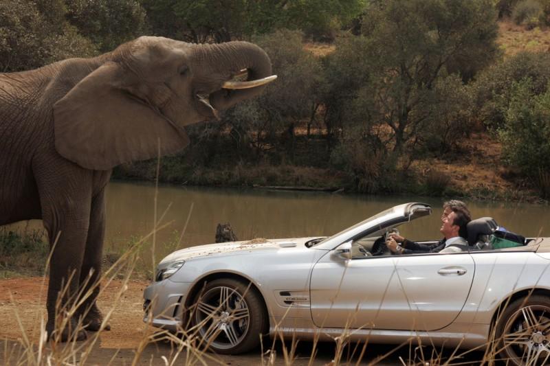 Christian De Sica e Max Tortora nel film Natale in Sudafrica