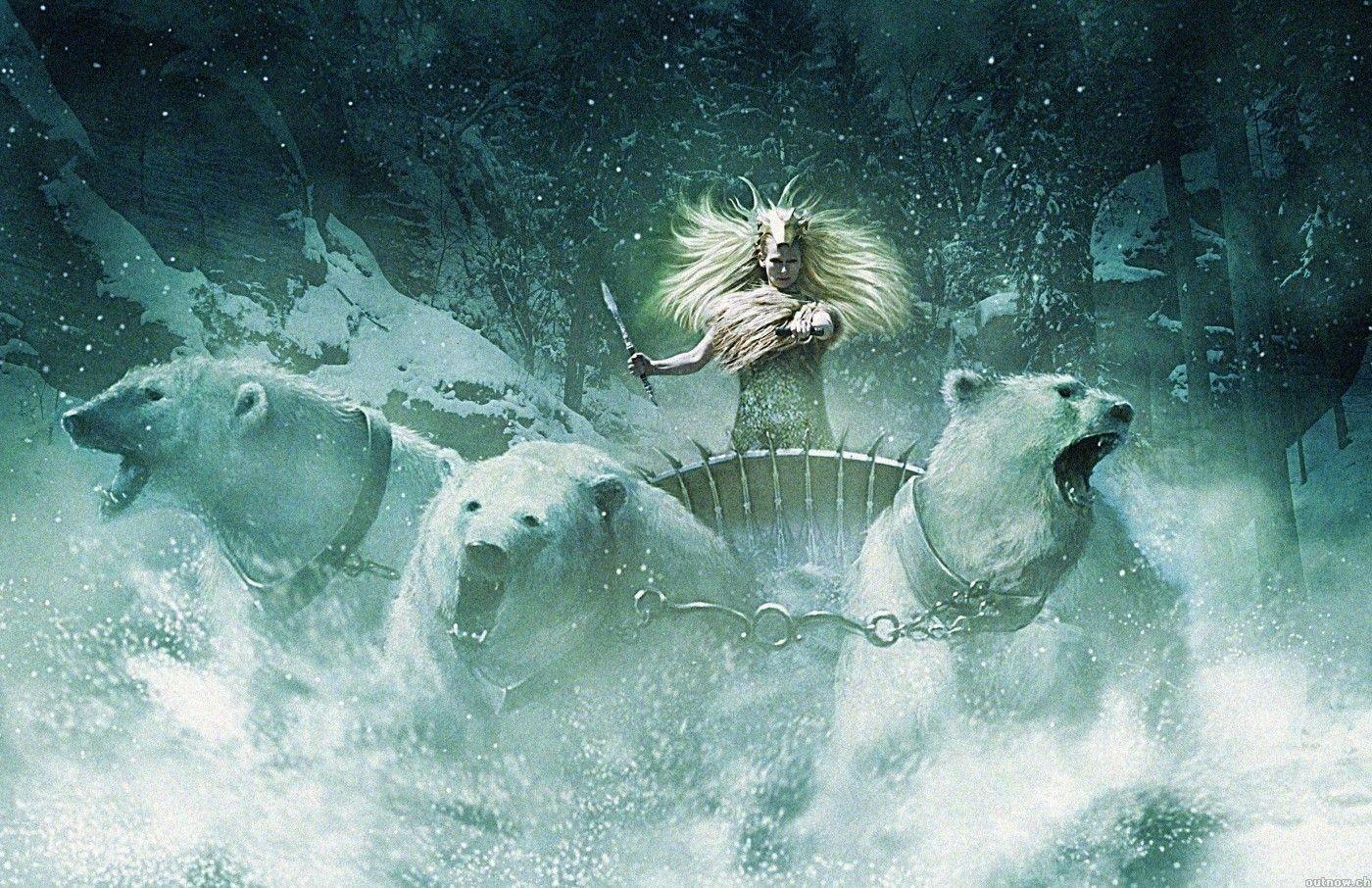 Wallpaper di Tilda Swinton nel primo capitolo de Le cronache di Narnia.