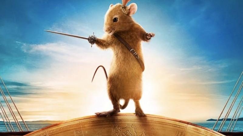 Il topolino Reepicheep nel fantasy Le cronache di Narnia: Il viaggio del veliero