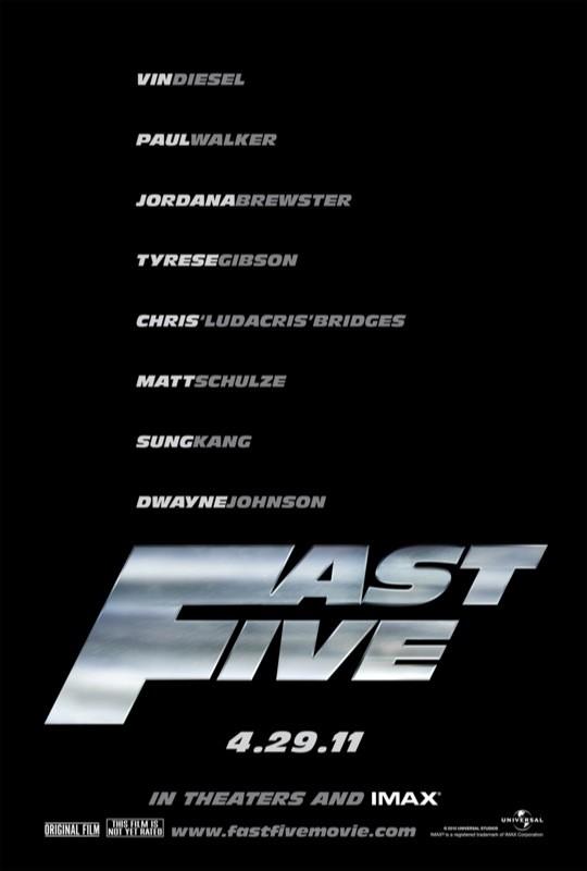 La locandina di Fast Five