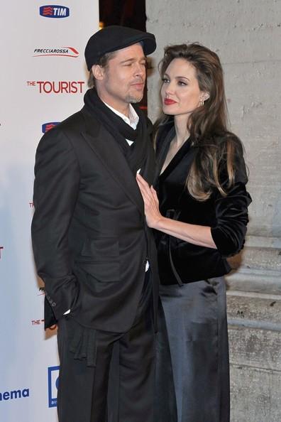 Angelina Jolie e Brad Pitt alla premiere romana di The Tourist