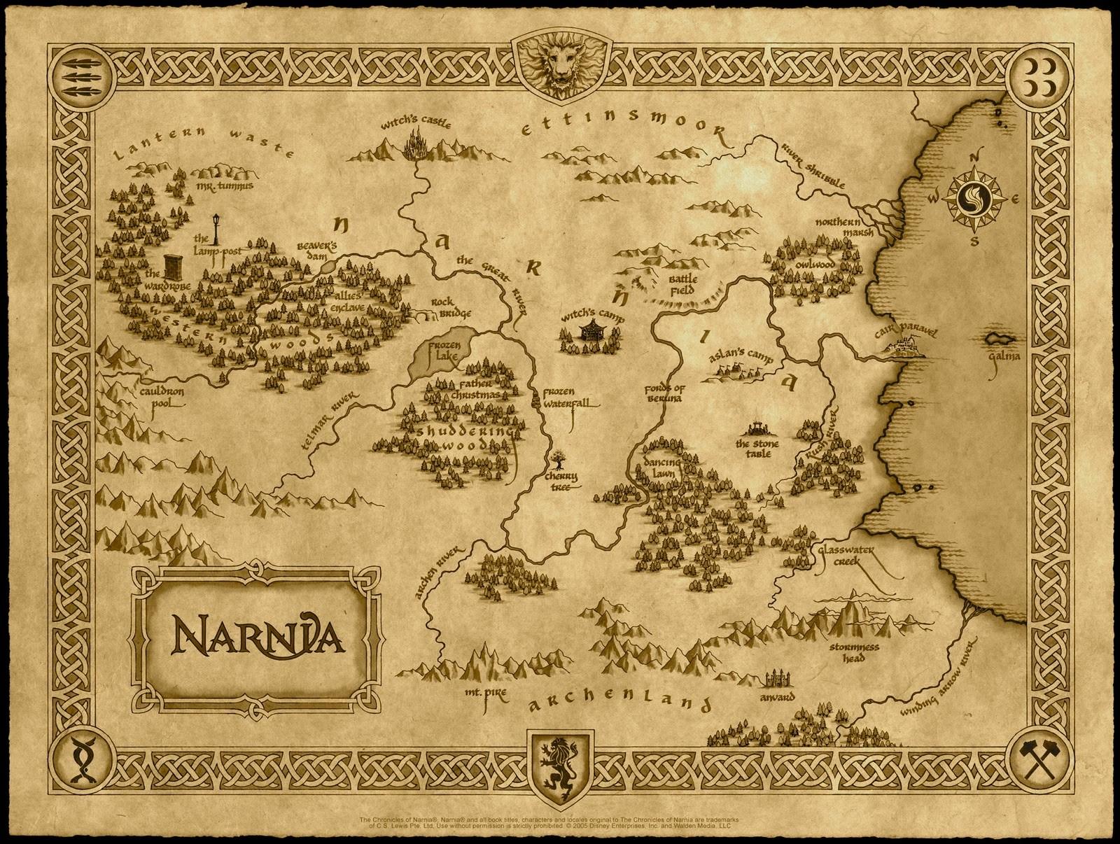 Wallpaper-mappa de Le cronache di Narnia: il Leone, la Strega e l\'Armadio