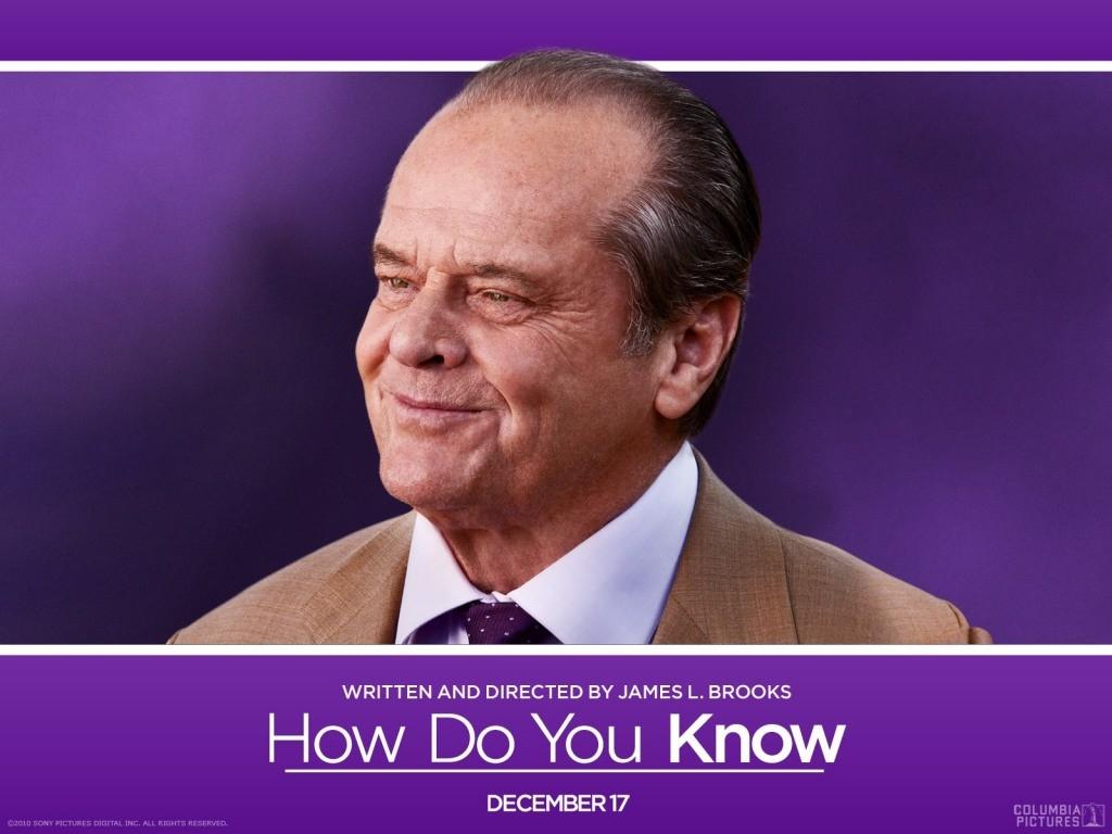 Il poster con Jack Nicholson dalla commedia Come lo sai