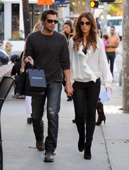 Kate Beckinsale e il marito Len Wiseman fanno shopping a Brentwood