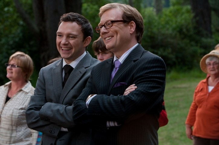 Nathan Corddry con Andrew Daly nel film Yogi Bear 3D
