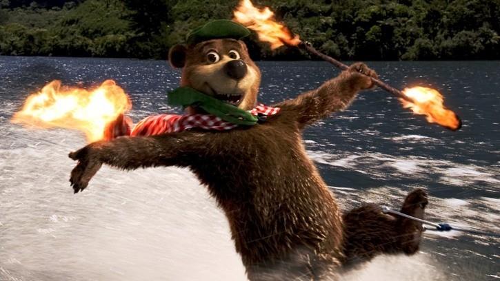 Un acrobatico Yoghi nel film Yogi Bear 3D