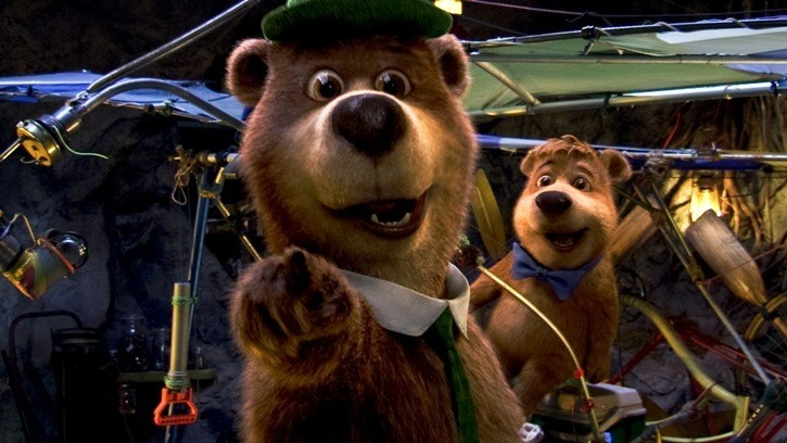 Yoghi e Bubu nel film Yogi Bear 3D