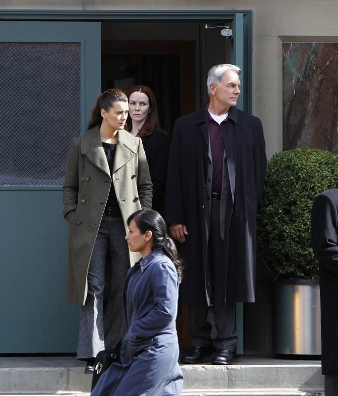 Cote de Pablo e Mark Harmon in una scena dell'episodio False Witness di NCIS