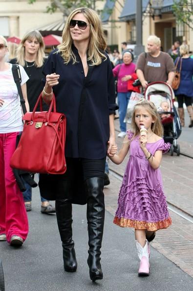 Heidi Klum porta i figli a karate e poi al The Grove a fare shopping in West Hollywood