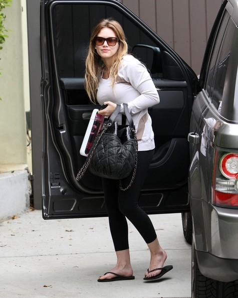 Hilary Duff lascia la palestra di West Hollywood