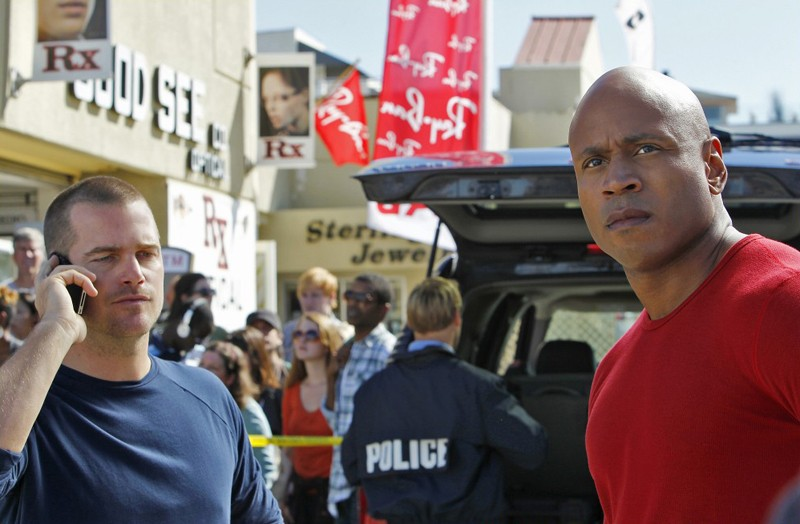 LL Cool J e Chris O'Donnell in una scena dell'episodio Disorder di NCIS: Los Angeles