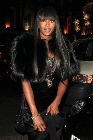 Naomi Campbell arriva al suo albergo di Londra dopo una notte di eventi