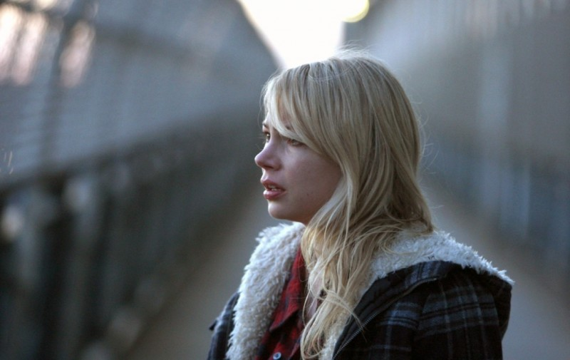 Michelle Williams in un momento del film Blue Valentine