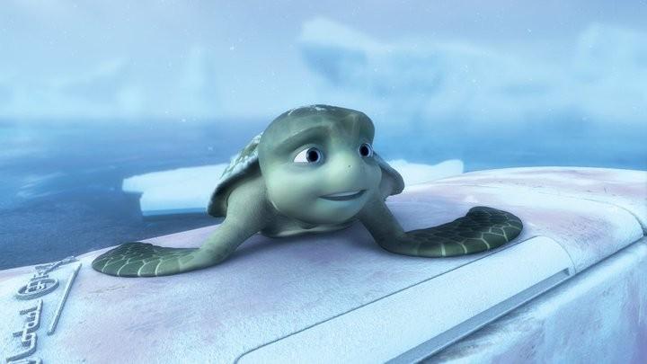 Un'immagine di Sammy dal film d'animazione Le avventure di Sammy - Il passaggio segreto