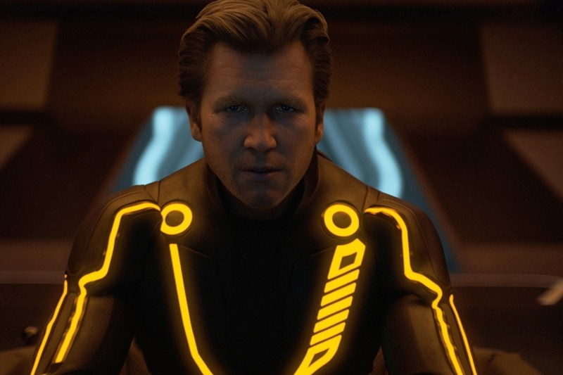 Un irriconoscibile Jeff Bridges alias Clu in Tron Legacy