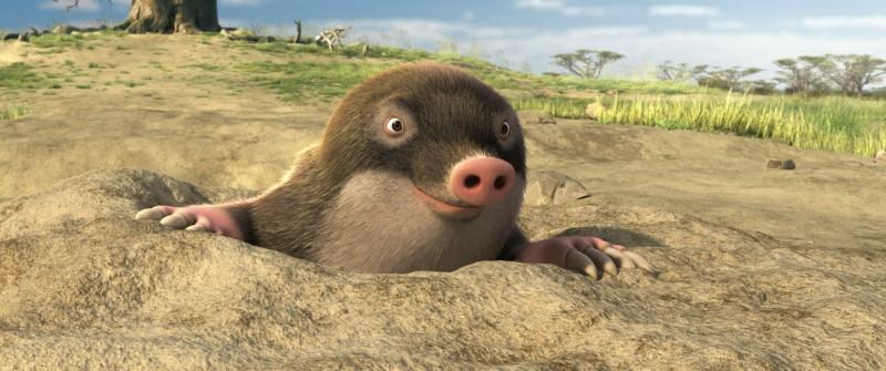 Una talpa sbuca dal film Animals United
